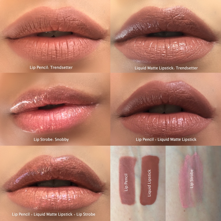Huda Beauty Contour & Strobe Lip Set Swatches on indian skin