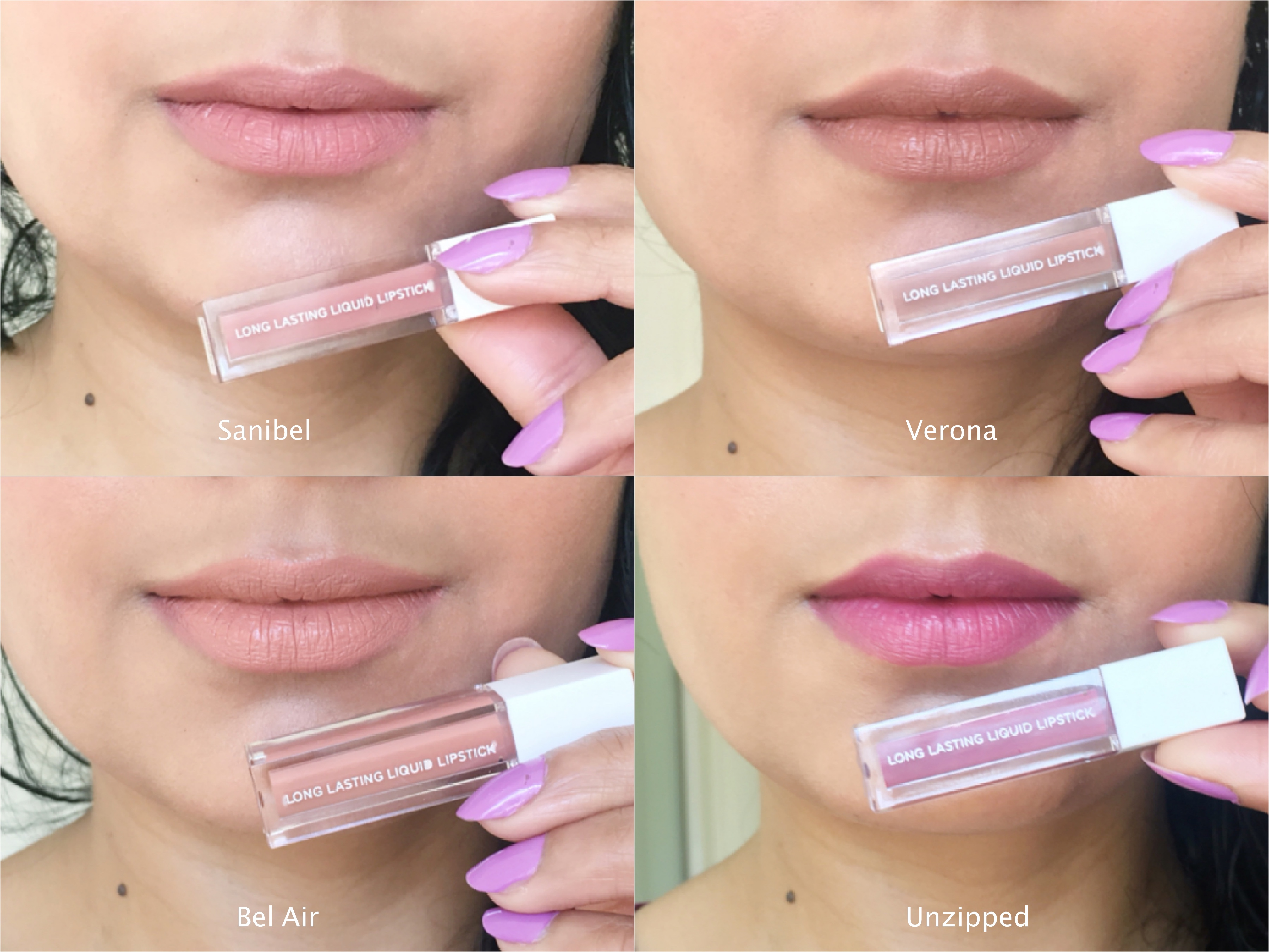 ofra liquid lipstick swatches on indian skin tone